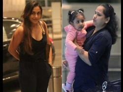 Rani Mukerji Spotted With Daughter Adira At Airport