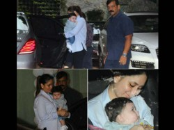 Kareena Kapoor Khan And Son Taimur In Tusshar Kapoor S Son Birthday Party