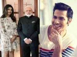 Varun Dhawan Reaction On Priyanka Chopra Meeting Pm Modi In Short Dress