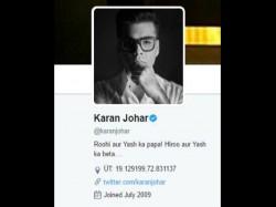 Karan Johar Latest Twitter Bio Is Too Cute