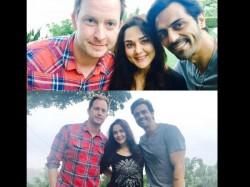 When Arjun Rampal Meet Preity Zinta And Husband Gene Goodenough