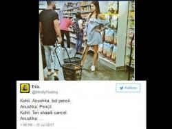 Twitter Funny Conversation On Virat Kohli Anushka Sharma Pic