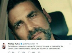 Akshay Kumar Apologies For Violating Code Of Conduct For National Flag Women World Cup
