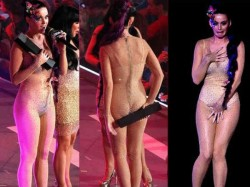 Katy Perry Seen Embarrassed With Her Revealing Dress