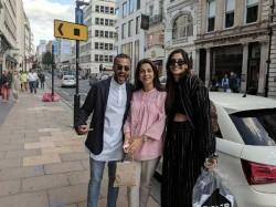 Sonam Kapoor Bumps Into Juhi Chawla In London See Pics