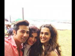 Varun Dhawan Shares Pic With Taapsee Pannu And Jacqueline Fernandez