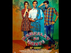 Bareilly Ki Barfi Poster Is Damn Cute Ayushmann Khurrana Kriti Sanon Rajkummar Rao