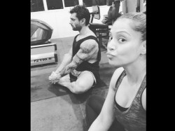 Bipasha Basu Enjoy Yoga With Husband Karan Singh Grover