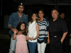 Ranbir Kapoor Spotted With Niece Samara At Family Dinner