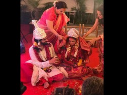 First Marriage Pic Of Riya Sen With Shivam Tiwari