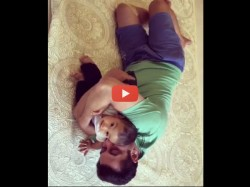 Salman Khan Playing With Nephew Ahil Video Viral