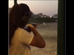Katrina Kaif Gun Wielding Avtar On The Set Of Tiger Zinda Hai