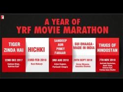 Yashraj Films Released Their Movie Calendar