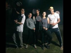 Raazi Team Enjoys Mid Night Badminton In Kashmir