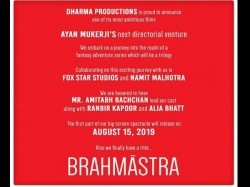Brahmastra Be Made On This Whopping Budget