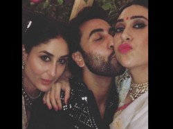 Ranbir Kapoor Kareena Kapoor Khan Karisma Kapoor Sibling Love On Diwali See Pic