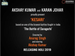 Karan Johar Announces Kesari With Akshay Kumar With Release Date