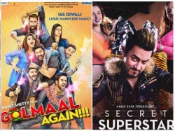 Diwali Box Office Clash Golmaal Again Secret Superstar Vouch For 500 Crores
