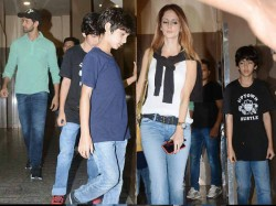 Hrithik Roshan Sussanne Khann Movie Date With Kids Pics