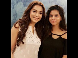 Suhana Khan Clicks Her First Picture With Juhi Chawla