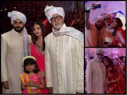 Amitabh Bachchan Aishwarya Rai Abhishek Bachchan Spotted Together At Wedding