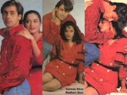 Salman Khan Madhuri Dixit 90s Photo Shoot See Pics