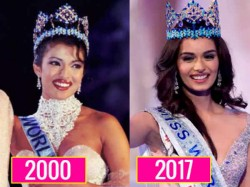 Miss World 2000 Priyanka Chopra Congratulates Miss World 2017 Manushi Chhillar