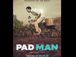 Akshay Kumar Makes His Way Padman Trailer With Padman Poster