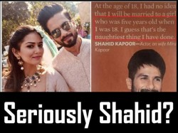 Is Shahid Kapoor Misquoted Or He Actually Made Gross Comment On Marrying Mira