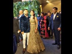 Virat Kohli Anushka Sharma Arrive Their Wedding Reception View Pics