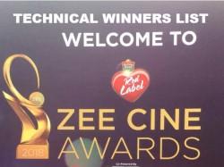 Zee Cine Awards 2018 Technical Awards Winner List