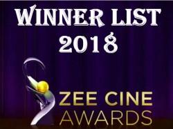 Zee Cine Awards 2018 Winner List