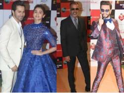 Zee Cine Awards Red Carpet Picture Alia Bhatt Ranveer Singh Varun Dhawan