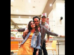 Hina Khan Vikas Gupta And Priyank Sharma Reunion After Bigg Boss