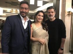 Madhuri Dixit Anil Kapoor Ajay Devgn Set Total Dhamaal