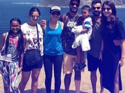 Virat Kohli Anushka Sharma Explore Cape Town With Shikhar Dhawan Family