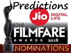 63rd Jio Filmfare Awards 2018 Nomination List Prediction And Who Should Win