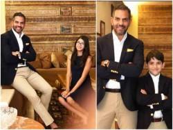 Karisma Kapoor Ex Husband Sanjay Kapur Pics Clicked With Kids Samaira And Kiaan