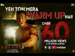 Tiger Shroff S Baaghi 2 Trailer Has 60 Million Views Just 24 Hours