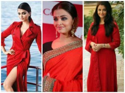 Aishwarya Rai Looks Beautiful In Red Outfit And Here Is Poof