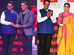 Akshay Kumar Kareena Kapoor Felicitatated At Lokmat Maharashtrian Of The Year Awards