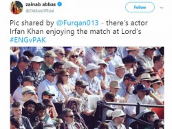 A Supposed Photo Irrfan Khan Enjoying Cricket Match London Goes Viral