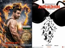 Posters Launche John Abraham Satyameva Jayate Ayushmann Khurrana Andhadhun