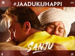 Ranbir Kapoor Paresh Rawal Share Jaadu Ki Jhappi Munnabhai Poster From Sanju