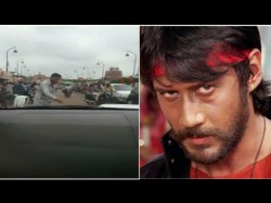 Jackie Shroff Clears Traffic During Shooting Prasthanam Lucknow