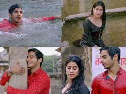 Ishan Khatter Jahnvi Kapoor S Drenched Romance On Sairat S Yad Lagla Remake Pehli Baar