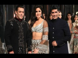 Katrina Guides Salman Khan Through The Ramp As They Turn Showstoppers Manish Malhotra