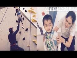 Riteish Genelia Son Rahyl Nominates Taimury Ash Rohi A Fitness Challenge