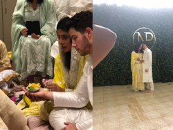 Priyanka Chopra Nick Jonas First Picture The Couple From Roka Ceremony Is Out