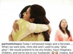 Parineeti Chopra Shares Priyanka Chopra S Roka Ceremony Pic Shares A Cute Story